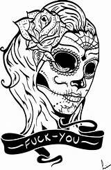 Skull Sugar Mexican Coloring Pages Vector Deviantart Adults Printable Getdrawings Para Groups sketch template