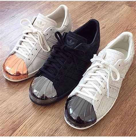 Shoes adids superstar, adidas, gold, rose gold, black