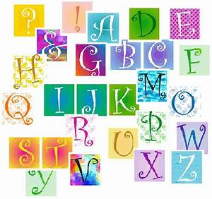 scrapbook graphic alphabets in 23 different color designs With scrapbook letters