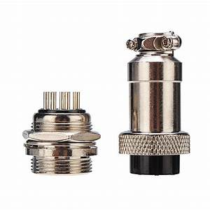 10pcs Gx20 8 Pin 20mm Male  U0026 Female Wire Panel Circular