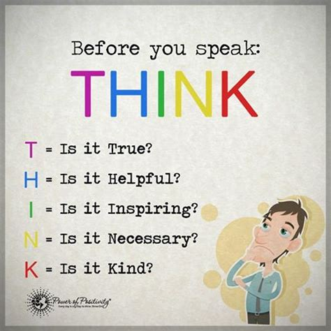 You Should Think Before You Speak Quotes