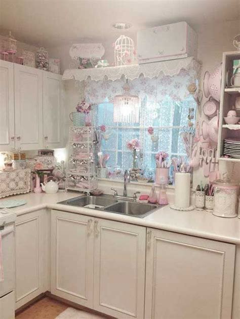 shabby chic kitchen cabinets ideas 32 sweet shabby chic kitchen decor ideas to try shelterness 7905