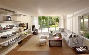floating-shelves-for-tv-equipment-Living-Room-Contemporary