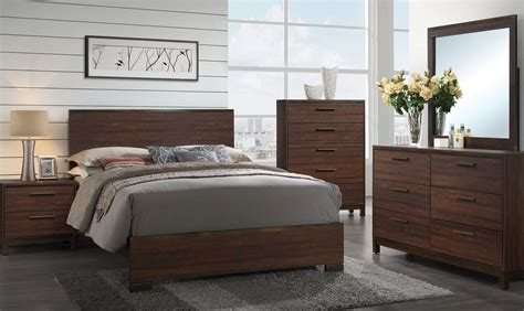 Platform Bedroom Set by Edmonton Rustic Tobacco Platform Bedroom Set From Coaster