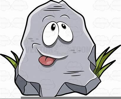 Rock Cartoon Clipart Rocks Metamorphic Poking Drawing