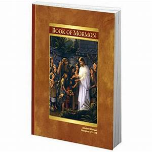 Book Of Mormon  Student Manual Religion 121 And 122 Manual