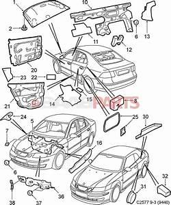 12845886  Saab Rear Door Insulation Foam