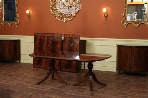 high  dining table federal style foot mahogany