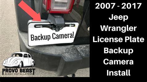 jeep wrangler license plate backup camera