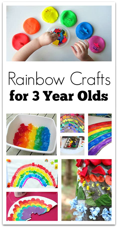 rainbow crafts for 3 year olds no time for flash cards 951 | rainbow crafts or 3 year olds