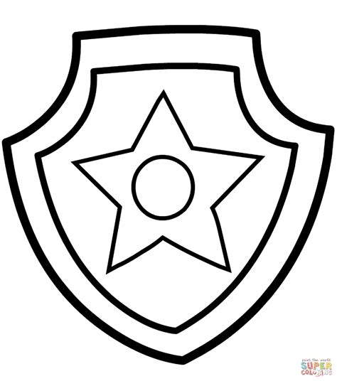 paw patrol badge template paw patrol badge coloring page free printable coloring pages
