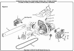 Homelite Ut10918 18 In  42cc Chain Saw Parts Diagram For