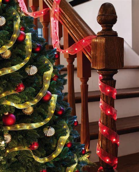 led garland xmas lights led lighted christmas ribbon garland christmas lights new