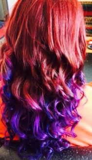 red  purple ombre    time   long time