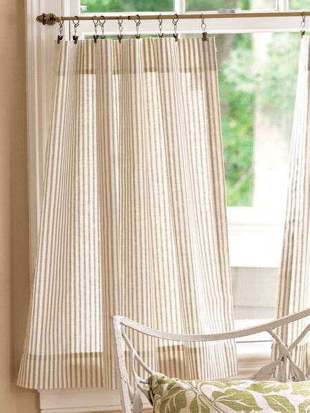 ticking stripe rod pocket curtain tiers vermont country