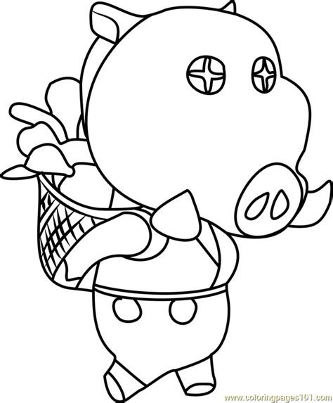 joan animal crossing coloring page  animal crossing