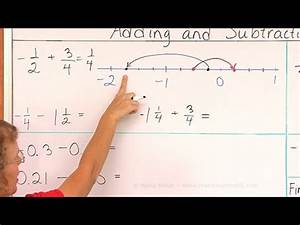 Adding and subtracting negative fractions and decimals ...