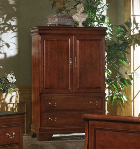 Armoire Cherry by Bb13 117 Vaughan Bassett Furniture Louis Collection Cherry