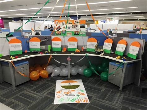 Cubicle Decoration Ideas For Indian Independence Day independence day themed decor altisource office photo