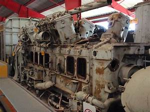 Cutaway Locomotive Diesel Engine At National Museum Of Tra