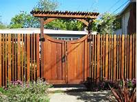 fence gate design top boards match spacing and width of fence style | Fence Ideas | Fence gate design, Fence gate ...