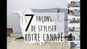 Comment Recouvrir Un Canapé D Angle : inspiration 7 fa ons de redonner du style votre canap avec un plaid youtube ~ Melissatoandfro.com Idées de Décoration