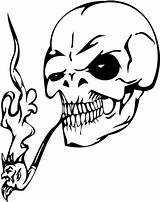 Skull Coloring Evil Smoking Pipe Skulls Printable Clipart Zombie Clip Smoke Drawing Tattoos Tattoo Svg Clipartbest Fire Visit Deviantart Cif sketch template