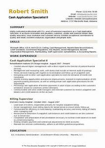 Samples Of Skills And Abilities For Resume Cash Application Specialist Resume Samples Qwikresume