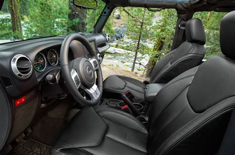 jeep rubicon interior 2014 jeep wrangler first look truck trend