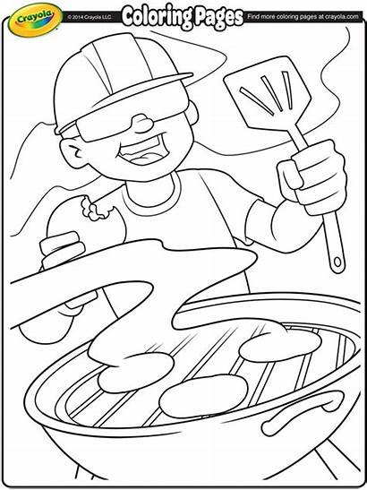 Coloring Pages Labor Crayola Summer Bbq Printables