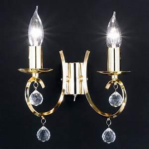 Wandleuchte 2 Flammig : wandleuchte 2 flammig messing poliert mit klarem glasbehang wohnlicht ~ Whattoseeinmadrid.com Haus und Dekorationen