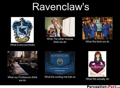 Ravenclaw Memes - ravenclaw s what people think i do what i really do perception vs fact