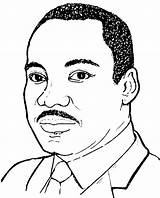 Coloring Luther Martin King Jr Mlk Drawing Pages Dr Preschool Sketch Printable Sheets Nelson Easy Mandela Portrait Getcolorings Line Google sketch template