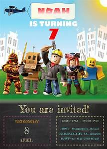 Roblox, Birthday, Invitation, Custom, Boy, Roblox, Editable