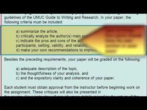 write  academic critique assignment critique