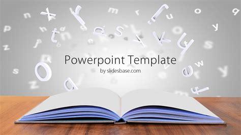 open book  desk powerpoint template slidesbase