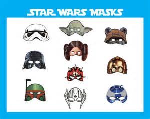 instant dl wars masks birthday printable by ravenjony