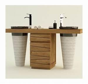 Meuble De Salle De Bain En Teck : meubles salle de bain mobilier bois teck ~ Edinachiropracticcenter.com Idées de Décoration