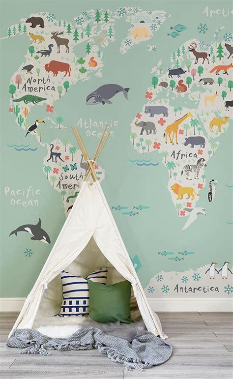 Beautiful Illustrative Wallpapers by Safari Map Wallpaper Mural Muralswallpaper