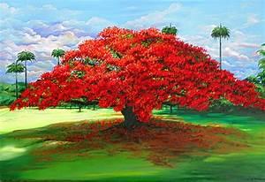 Flamboyant Ablaze Painting by Karin Dawn Kelshall- Best