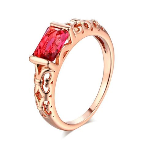 new arrival hot selling 2018 red crystal wedding rings