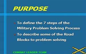 Military Problem Solving Process  Armystudyguide Com