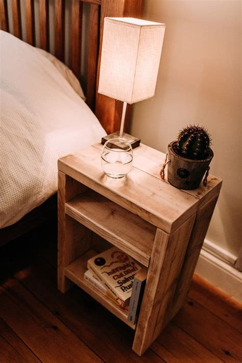 rustic scaffolding wood bedside table wood bedside table
