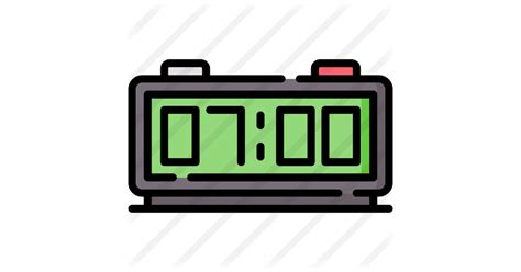 Download more than 10,000 free fonts hassle free, desktop and mobile optimized, around for more than 20 years. Digital alarm clock - Free electronics icons