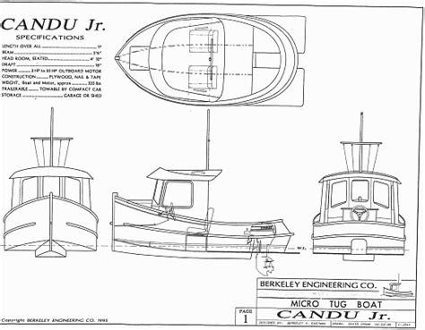 Mini Boat Drawing by Candu Jr Mini Tugboat Plans Tugboat Plans
