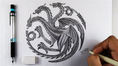 How To Draw House Targaryen Sigil