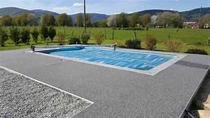 revetement drainant et decoratif tour de piscine With revetement ideal pourtour de piscine