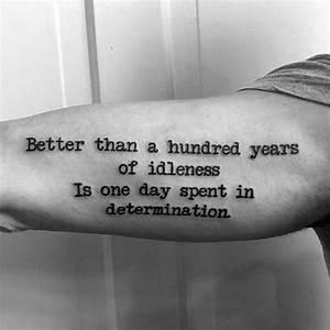 50 Typewriter Tattoo Designs For Men - Retro Ink Ideas