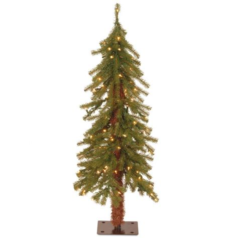 fake tree with lights national tree company 3 ft hickory cedar artificial