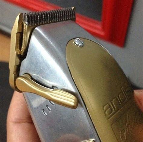 custom gold chrome andis masters hair logistics pinterest